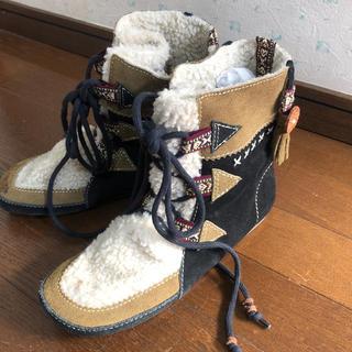 チャイハネ(チャイハネ)の暖かいチャイハネアミナボアブーツ(ブーツ)