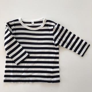 ムジルシリョウヒン(MUJI (無印良品))の無印良品 ボーダーロンT 80㎝(Tシャツ)