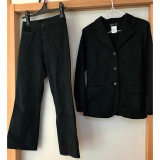 アニエスベー(agnes b.)の値下げ  アニエスベー  スーツ 上下 セット 黒 ブラック 専用カバー(スーツ)