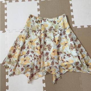 オゾック(OZOC)のオゾック スカート Mサイズ 花柄(ひざ丈スカート)