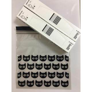 イケア(IKEA)の【IKEA】黒猫柄 ジップロック 2箱分30枚(収納/キッチン雑貨)