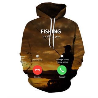 釣りが私を呼んでいる!速乾!防寒!かっこいい!パーカーMサイズ新品(ウエア)
