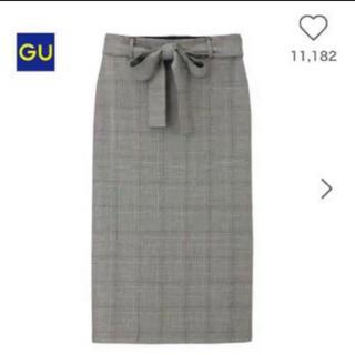 GU - 【美品】GU グレンチェック スカート