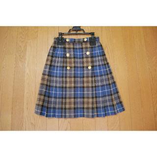 品川女子学院 冬スカート 青スカート金ボタン付き