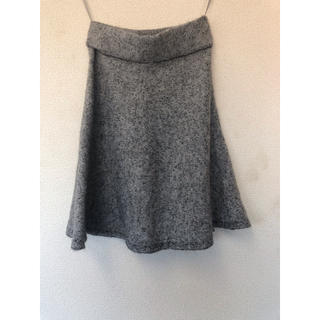 ザラ(ZARA)のZARA ザラ スカート ウール ニット B品 未使用 ほつれあり M(ミニスカート)