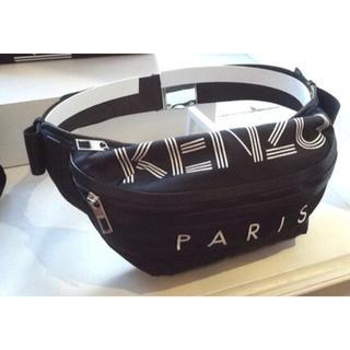 ケンゾー(KENZO)の日本未入荷 KENZO ロゴ入りボディバック黒(ボディーバッグ)