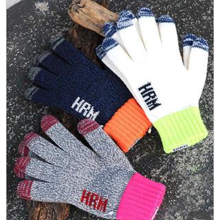 ハリウッドランチマーケット(HOLLYWOOD RANCH MARKET)のハリウッド ランチ マーケット HRMネオンラインタッチパネルグローブ Sサイズ(手袋)