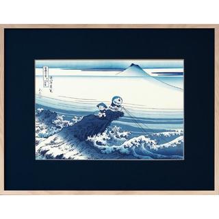 【期間限定値下げ】ドラえもん浮世絵 富嶽三十六景 甲州石班澤(版画)