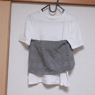 オゾック(OZOC)のチェックビスチェ Tシャツ(Tシャツ(半袖/袖なし))