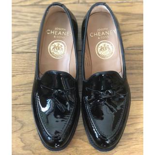 チーニー(CHEANEY)の美品✴︎ジョセフチーニー パテントローファー3 1/2(ローファー/革靴)