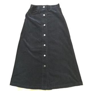 GU - 美品☆新品☆GU☆ジーユー☆ロングスカート☆黒☆Sサイズ