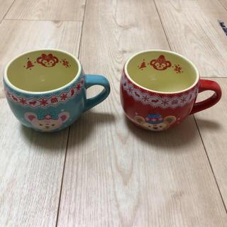 ダッフィー(ダッフィー)の新品 ダッフィー シェリーメイ クリスマス スーベニアマグカップ 2つセット(食器)