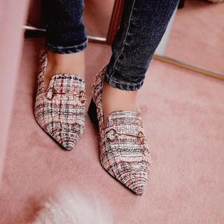 エイミーイストワール(eimy istoire)のツイードローファー(ローファー/革靴)