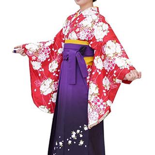 卒業式中振袖 女性二尺袖小紋着物 、袴 2点セット(振袖)