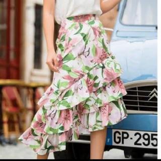 エイミーイストワール(eimy istoire)のvacation flower ラッフルスカート(ひざ丈スカート)