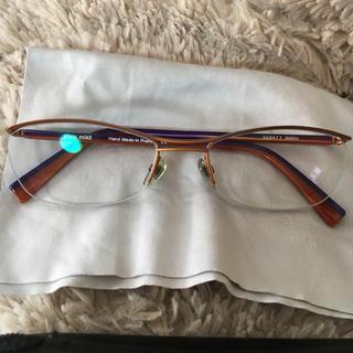 アランミクリ(alanmikli)の値下げ!アランミクリ 眼鏡 オレンジ×パープル 美品(サングラス/メガネ)