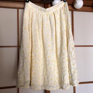 オゾック(OZOC)のOZOC 花柄レーススカート(ひざ丈スカート)