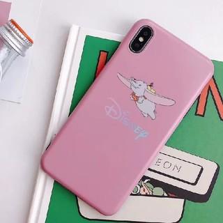 ディズニー(Disney)のディズニー ダンボ iPhoneケース ソフトケース ピンク(iPhoneケース)