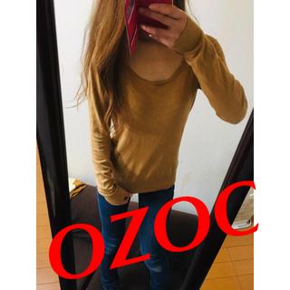 オゾック(OZOC)のOZOC薄ニット(カットソー(長袖/七分))