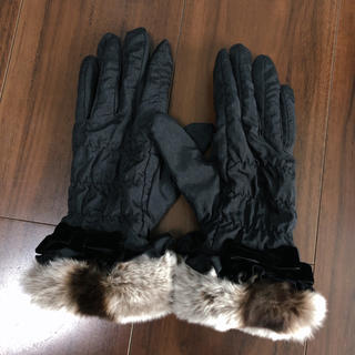 ランバンオンブルー(LANVIN en Bleu)のランバン♡ファー付き手袋(手袋)