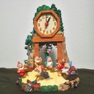 ディズニー(Disney)の白雪姫 七人の小人 スノーホワイト 振り子時計(キャラクターグッズ)