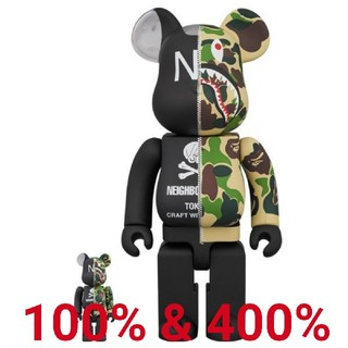 A BATHING APE - 100% & 400% APE × NEIGHBORHOOD BE@RBRICK