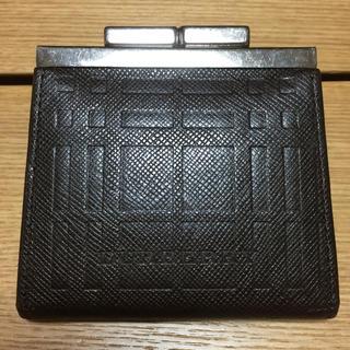 バーバリー(BURBERRY)の☆値下げ中☆ Burberry バーバリー 財布 コインケース がま口 茶色(コインケース)