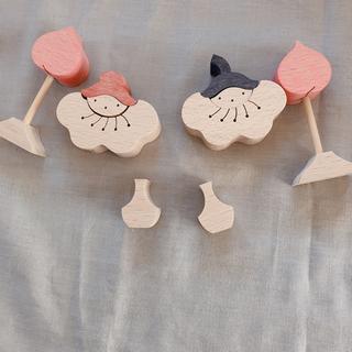 小黒三郎 ひな人形 小 桃の花びな