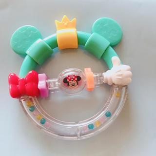 ディズニー(Disney)のDear Little Hands おしゃぶりラトル ミッキー&ミニー (がらがら/ラトル)