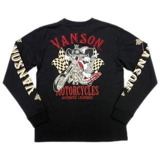 バンソン(VANSON)の送料無料バンソン/トムとジェリーTJV-902コラボ長袖Tシャツ黒LL(XL)(Tシャツ/カットソー(七分/長袖))