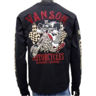 バンソン(VANSON)の送料無料バンソン/トムとジェリーTJV-902コラボ長袖Tシャツ黒3L(XXL)(Tシャツ/カットソー(七分/長袖))