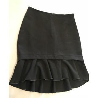 ザラ(ZARA)のZARA  ザラ ペプラム タイトスカート カーキ S(ミニスカート)