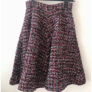 トランテアンソンドゥモード(31 Sons de mode)の31 sons de mode ツイードスカート(ひざ丈スカート)