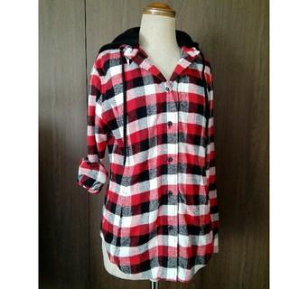 スパイラルガール(SPIRAL GIRL)のスパイラルガール フード付きチェックシャツ M(シャツ/ブラウス(長袖/七分))