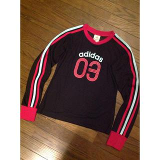 アディダス(adidas)のアディダス 三本ラインシャツ  S(Tシャツ(長袖/七分))