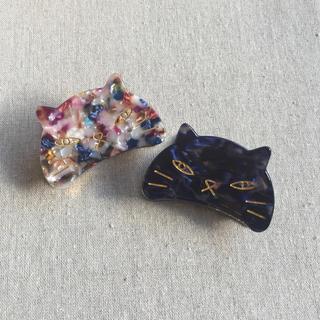 シマムラ(しまむら)のネコのヘアクリップ  ペア(バレッタ/ヘアクリップ)