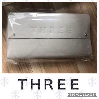 スリー(THREE)のTHREEティッシュケース(ノベルティ)(ティッシュボックス)