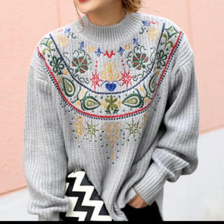セレクト(SELECT)のセレクトモカ  刺繍ニット  (ニット/セーター)
