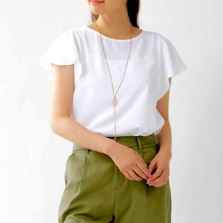 シネマクラブ(CINEMA CLUB)の袖ボリューム プルオーバー/ホワイト(カットソー(半袖/袖なし))