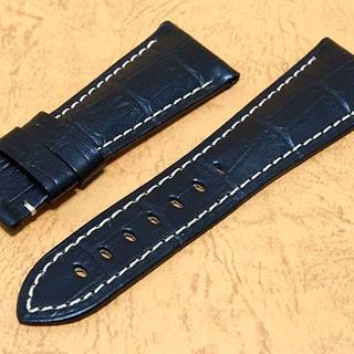 パネライ(PANERAI)のPANERAI パネライ クロコ型押し カーフストラップ(レザーベルト)