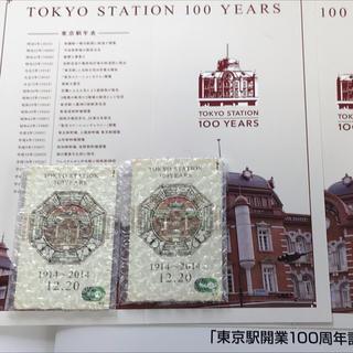 ジェイアール(JR)の2枚セット♪東京駅開業100周年記念Suica☆台紙付き JR東日本(鉄道)