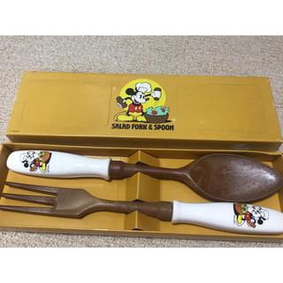 ディズニー(Disney)のDisney ミッキー スプーン フォーク サラダ取り分け カラトリー(カトラリー/箸)