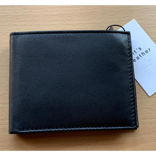 ZARA - ZARA 本革 二つ折り財布 ブラック ポケット多い&小銭入れ付き