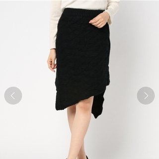 バラク(Barak)のBARAK イレヘム ケーブル スカート タグ付き*(ひざ丈スカート)