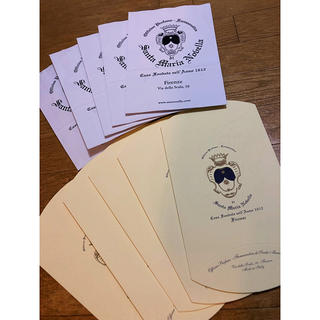サンタマリアノヴェッラ(Santa Maria Novella)のサンタマリアノヴェッラ  紙袋 ギフトボックス 5枚×2種 新品(アロマグッズ)