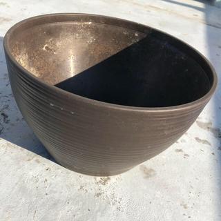 プラスチック 植木鉢 プランター ブラウン(プランター)