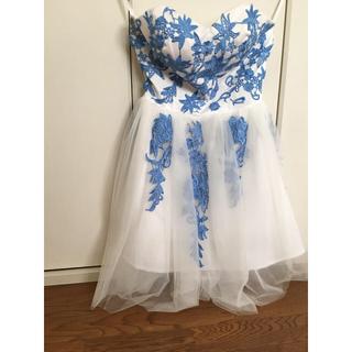ウエディングドレス ミニドレス ベールガーター付き