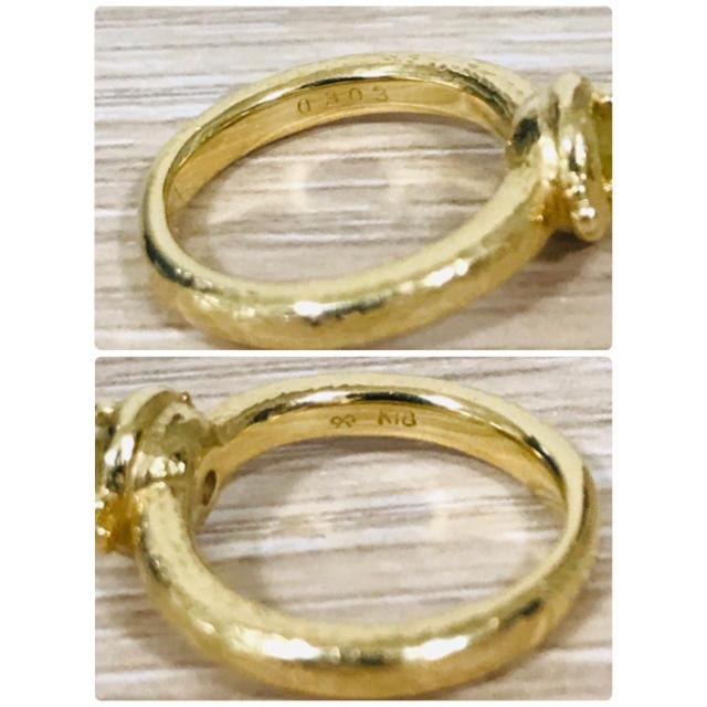 期間限定!ローズカットイエローダイヤ  k18ピンキーリング1号 レディースのアクセサリー(リング(指輪))の商品写真