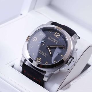 パネライ(PANERAI)の 新品 PANERAI 黒 メンズ 腕時計  革 自動巻(腕時計(アナログ))