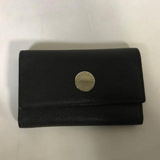 ブルガリ(BVLGARI)の美品本物ブルガリBVLGARI本革レザー6連キーケース鍵メンズ黒ブラック黒(キーケース)